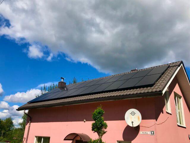 7 kWp saulės elektrinė