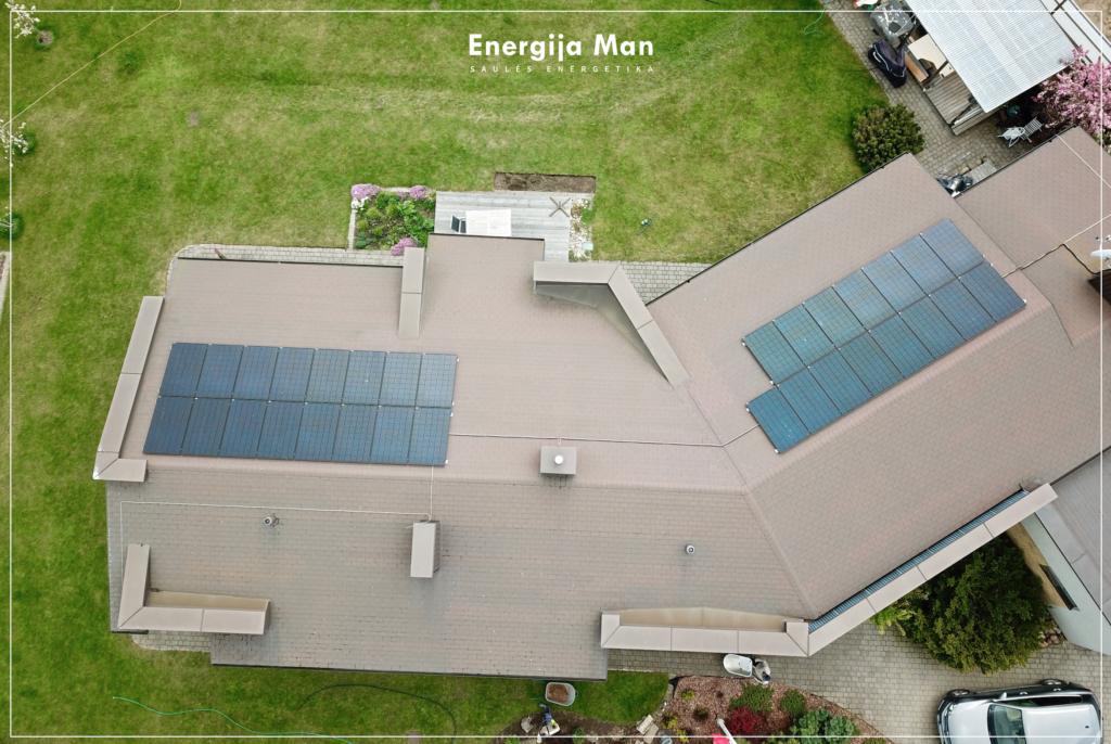 10 kW saulės elektrinės kaina